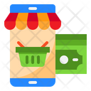 Online Shopping Mobile Shopping Online Basket Icon