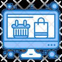 Online Shopping Online Basket Shopping Bag Icon