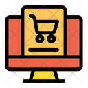 Cart Ecomerce Monitor Icon
