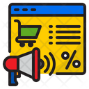 Online Shopping Advertising Icon