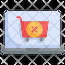 Laptop Cart Sale Icon