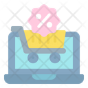 Online Shopping Discount Discount Shopping Cart Icon
