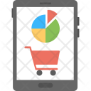 Online Shopping Graph Icon
