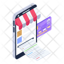 Online Shopping Invoice Icon