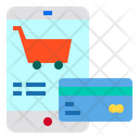 Smartphone Shopping Card Icon