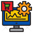 Gear Shopping Graph Icon