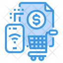 Smartphone Shopping Payment Icon