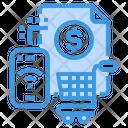 Online Shopping Receipt Icon