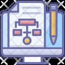 Online Sitemap Online Hierarchy Flowchart Icon