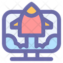 Rocket Ship Spaceship Icon
