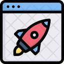 Online Startup Startup Rocket Icon