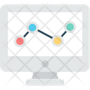 Online Statistic Analytics Business Icon