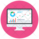 Online Statistics Online Infographic Online Data Icon
