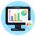 Online Statistic Online Analytics Digital Analytics Icon