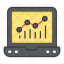 Online Statistics Online Infographic Online Data Analysis Icon