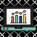 Online Chart Online Graph Online Statistics Icon