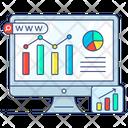Statistics Representation Online Stats Web Statistics Icon