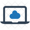 Cloud Laptop Share Icon