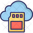 Cloud Storage Sd Card Sd Memory Card Icon