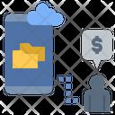 Online Storage Cloud Computing Cloud Storage Icon