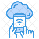 Cloud Smartphone Network Icon