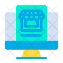 Monitor Online Shop Icon