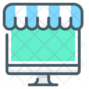 Shop Online Store Ecommerce Icon