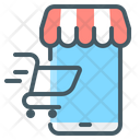 Online Store Mobile Store Ecommerce Icon