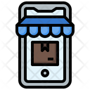 Online Store Grow Shop Mobile Shopping Icon