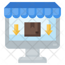 Computer Online Store Ecommerce Icon