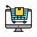 Online Store Color Icon