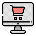 Online Shop Ecommerce Monitor Icon