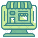 Online Store Shopping Monitor Icon