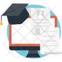 Online Degree Distance Icon
