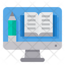 Computer Elearning Book Icon
