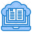 Book Laptop Cloud Icon