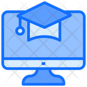 Online Study E Learning Computer Icon