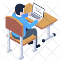 Online Learning Online Study E Learning Icon