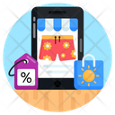 Mobile Shop Mcommerce Mobile Shopping Icon