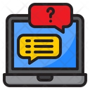 Support Laptop Message Icon