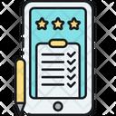 Online Survey Mobile Survey Mobile Questionnaire Icon