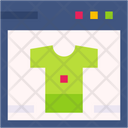 Online T Shirt Web Browser Shirt Icon