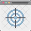 Online Target Web Shooting Web Target Icon