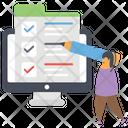 Online Task List Online Checklist Online Tracklist Icon