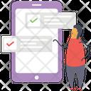 Online Task List Icon