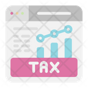 Online Tax Graph Icon
