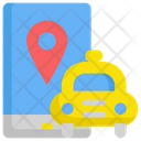 Online Taxi Location Icon
