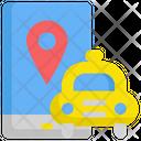 Gps Taxi Location Icon