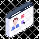 Online Teaching Virtual Teaching Digital Teacher Icon
