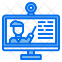 Elearning Monitor Screen Icon